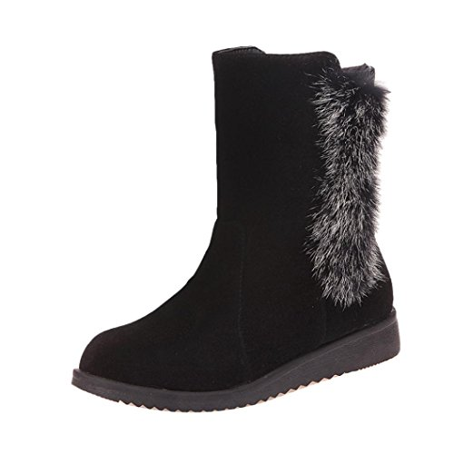 Creazy Women's Boots Winter Boots Warm Ankle Boots Warm Winter Shoes (Black, 40)
