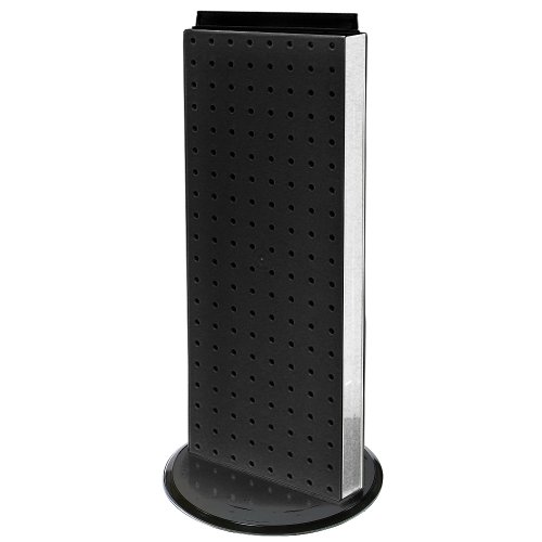 (Azar 700508-BLK 8-Inch W by 20-Inch H Revolving Black Pegboard Counter Unit, Black)
