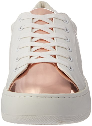 Steve Madden Womens Bertie-m Piattaforma Piattaforma Moda Sneakers Bianco