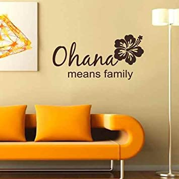 Amazon.com: Ohana Means Family Vinyl Wall Decal Beach Decor Family ...