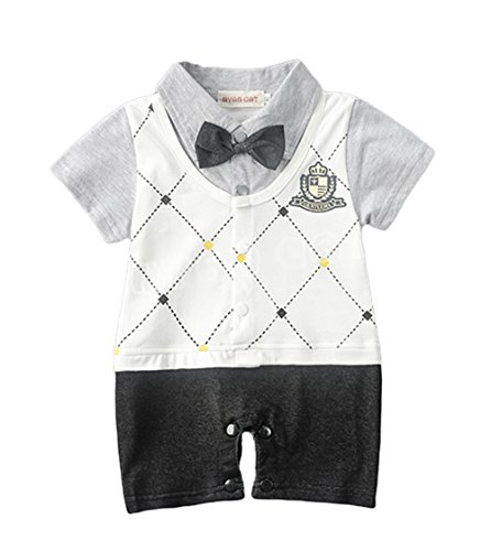 AvaCostume Baby Boys One Piece Gentle Jumpsuit Romper Outfit