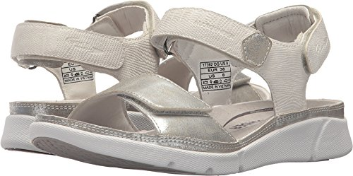 Allrounder by Mephisto Women's Tabasa Silver Metallic/Off-White Casimir L 40 M EU
