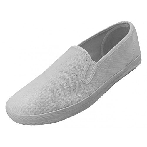 mens-casual-slip-on-canvas-shoes-black-navy-white-sizes-7-13-11-white