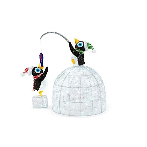 48'' LED Penguin Igloo Penguins Christmas Decoration by Home Accents (Image #3)