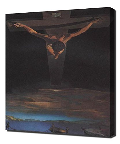 Lilarama Salvador Dali Christ of St John On The Cross Framed Canvas Art Print Reproduction (Dali Christ Of St John Of The Cross)