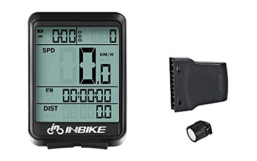 INBIKE by Ahingza Bicycle Computer Wireless Bike Cycling Odometer Stopwatch Speedometer Watch LED Digital Rate