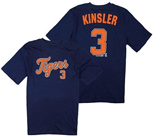 Outerstuff Detroit Tigers MLB Big Boys Ian Kinsler # 3 Player Shirt - Navy Blue (Medium (8))