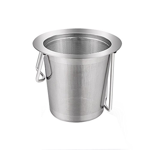 Tea Infuser, Ououdee Premium Long Handle Stainless Tea Filter Reusable Strainer for Loose Leaf Tea, Tea Cups, Mugs, and Teapots