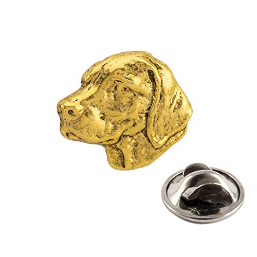 Creative Pewter Designs Labrador Dog 22k Gold Plated Mini Lapel Pin, Brooch, Jewelry, DG112MP (Jewelry Pin Labrador)