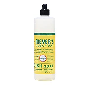 MRS MEYERS Liquid Dish Soap, Honeysuckle, 16 Fluid Ounce (Pack of 3)