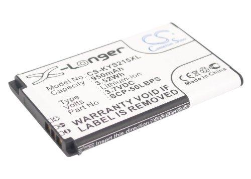 Battery Compatible with KYOCERA C2150, Coast S2151, Kona S2150, Kona S2151, S2150, S2151 Kona Part NO 5AAXBT062GEA, SCP-50LBPS