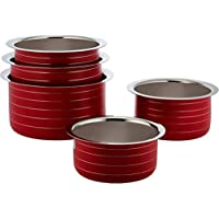 Classic Essentials Stainless Steel Patila Set, 5-Piece