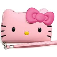 Galaxy Note 8 , Hello Kitty 3D Wallet Case Samsung Galaxy Note 8 with Camera hole , Screen Protector ,(Baby Pink)