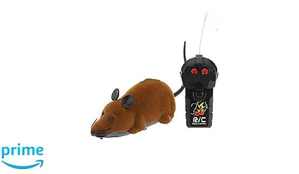 Brown teledirigido Rata Ratón del juguete para gato del gatito del animal doméstico del perro de la novedad de regalos: Amazon.es: Juguetes y juegos