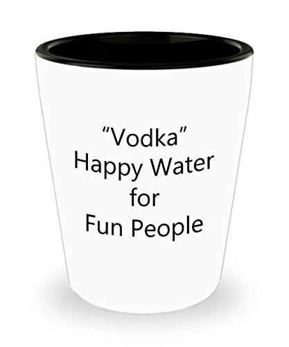 [Drinking Quotes Shot Glasses - All About Vodka Shot Glass] (Dog Halloween Costume Martini Glass)