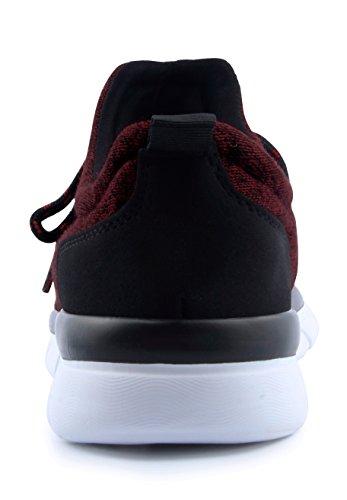 Santiro Vrouwen Lichtgewicht Sport Mode Sneakers Schoenen Wijnrood