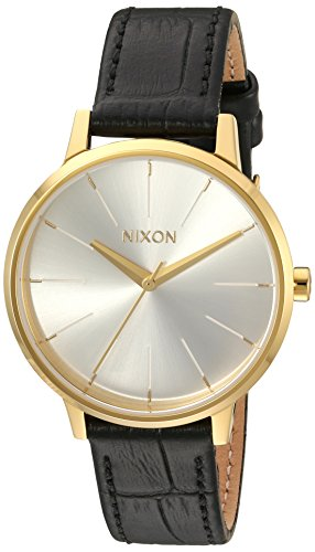 Nixon Women's 'Kensington' Quartz Leather Automatic Watch, Color:Black (Model: A1082022-00)