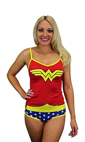 Wonder Woman Cami Set - DC Comics Wonder Woman Glow In The Dark Women's Cami/Panty Set, Large