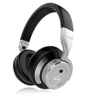 Active Noise Cancelling Bluetooth Headphones, iDeaUSA Wireless Over Ear Headphones Microphone, HiFi Stereo Sound, Headphones TV, Running, Sports – Silver