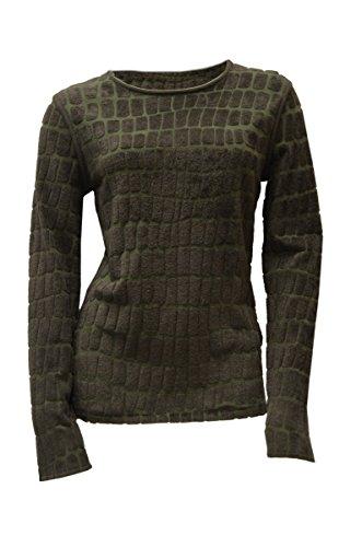 maxmara-womens-textured-knit-soft-sweater-sz-l-khaki-green-150641mm