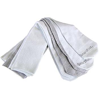 SmartKnit Seamless AFO Interface Socks 3 Pack - Adult Regular - White White & Gray