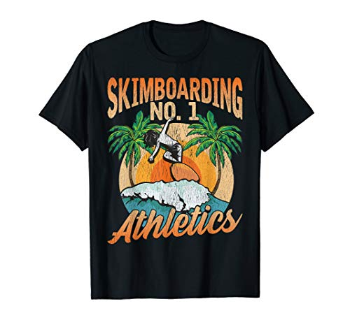 Skimboard Rider Waves surfing Skim boarder Beach Gift T-Shirt