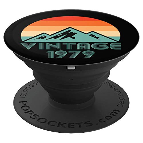 40th Birthday Pop Socket Vintage 1979 Grip Classic Men Women - PopSockets Grip and Stand for Phones and Tablets