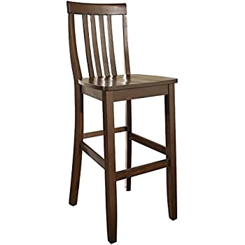 Amazon Com Crosley Furniture X Back Bar Stool Set Of 2