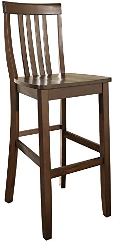 - Crosley Furniture CF500330-MA Schoolhouse Bar Stool (Set of 2), 30-inch, Vintage Mahogany