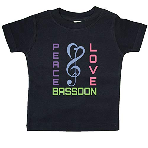 - inktastic - Peace Love Bassoon Baby T-Shirt 24 Months Black 1fd45