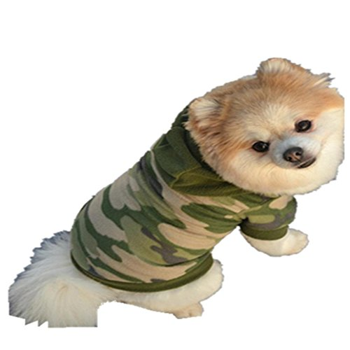 AMA(TM) Pet Puppy Small Dog Camouflage Clothes Plush Sweater Sweatshirt Hoodie Doggy Coat Apparel Costume (L, (Raven Velvet Costumes)