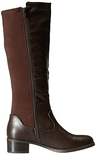 Easy Street Womens Colton Riding Boot Brown/Brown Stretch JUM2yqIJ0