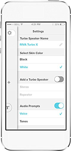 RIVA AUDIO RIVA X Turbo-White-Altavoz Bluetooth aptX Premium Bolsa para pantalla táctil, color negro: Amazon.es: Electrónica