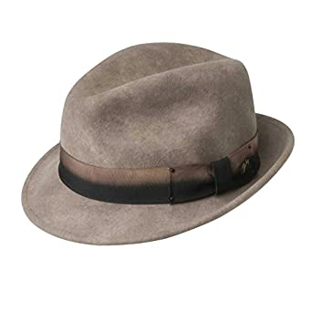f4999e5924695 Bailey of Hollywood Eco Tino Fedora Hat Hazelnut Xl Hazelnut Xl at ...