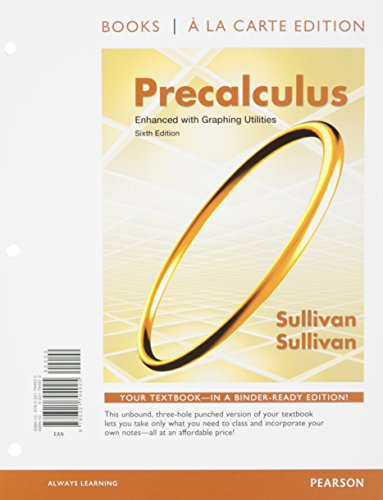 Precalculus Enhanced with Graphing Utilites, Books a la Carte Edition and MathXL -- Valuepack Access Card (24-month acce