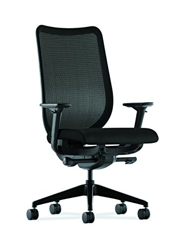 HON Nucleus Mesh Task Chair - Knit Mesh Back Computer Chair with Adjustable Arms, Black price