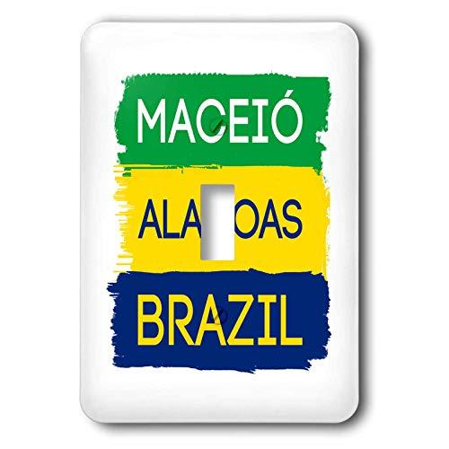 3dRose Alexis Design - Brazilian Cities - Maceio, Alagoas national colors patriot Brazil home town design - 2 plug outlet cover (lsp_311939_6)
