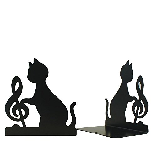 DYQWT Book Nonskid Bookends Art Bookend,1Pairs,(Black 2 style) by DYQWT