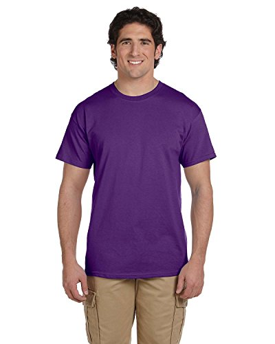 Gildan Men's Ultra Cotton Crewneck T-Shirt, Purple, XXXXX-Large by Gildan