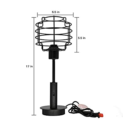 Metal Table Lamp for Living Room Alucset Industrial Desk Lamp for Bedroom 17 inch Tall Night Light Home Decor