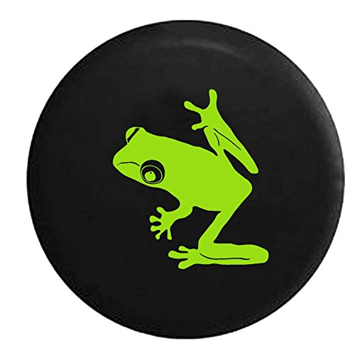 - Lime - Tree Frog BUGEYE Rainforest Endangered Island Sea Turtle Jeep Spare Tire Cover Vinyl Black 29 in