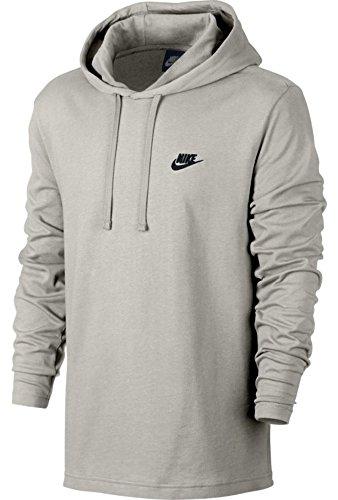 Nike M NSW Hoodie Po JSY Club, Sweatshirt Weiß (light bone/Black)