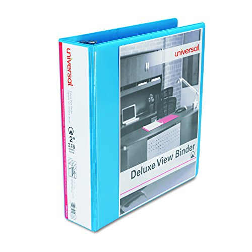 Universal Deluxe Round Ring View Binder, 2