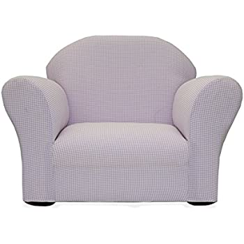 KEET Roundy Rocking Kidu0027s Chair Gingham, Lavender