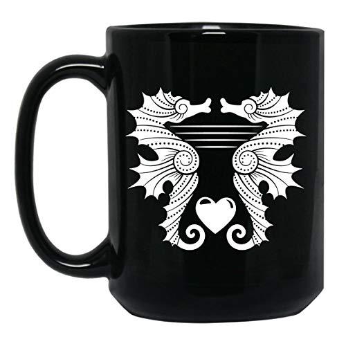 Seahorse Love Coffee Mug, Iced Coffee Mug 15 oz ()