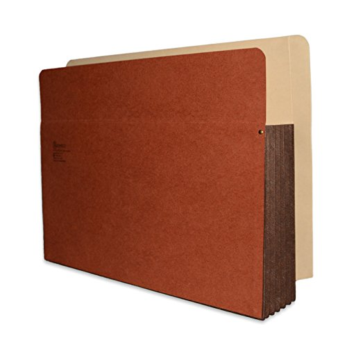 Redweld End Tab File Pocket, Letter Size with 5 1/4'' Fully Reinforced Tyvek Gusset, 50 per Carton by ALL-STATE LEGAL