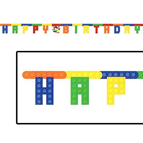 LEGO Bricks Happy Birthday Banner