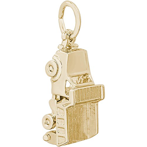Rembrandt Charms Dump Truck Charm, 10K Yellow Gold