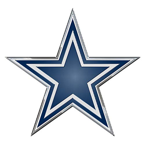 Dallas Cowboys Star Aluminum Metal Emblem Car Truck Window Laptop Dallas Cowboys Decal Sticker -