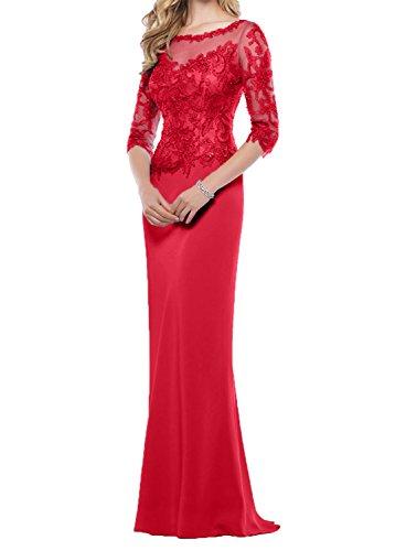 2018 Charmant Abendkleider Abschlussballkleider Promkleider Brautmutterkleider Etuikleider Damen Rot Neu Pailletten 55qRwrAZx